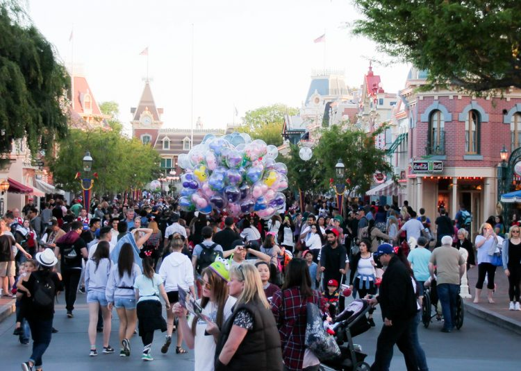crowds at Disneyland during Spring Break