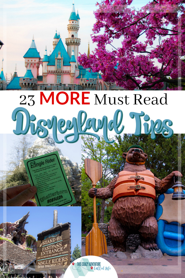 If you are heading on vacation to Disneyland Resort, you need to check out these Disney tips. This is the second set of 23 Disneyland tips (out of 3).  #Disneyland #VisitCalifornia #Vacation #FamilyTravel #ThisCrazyAdventureCalledLife