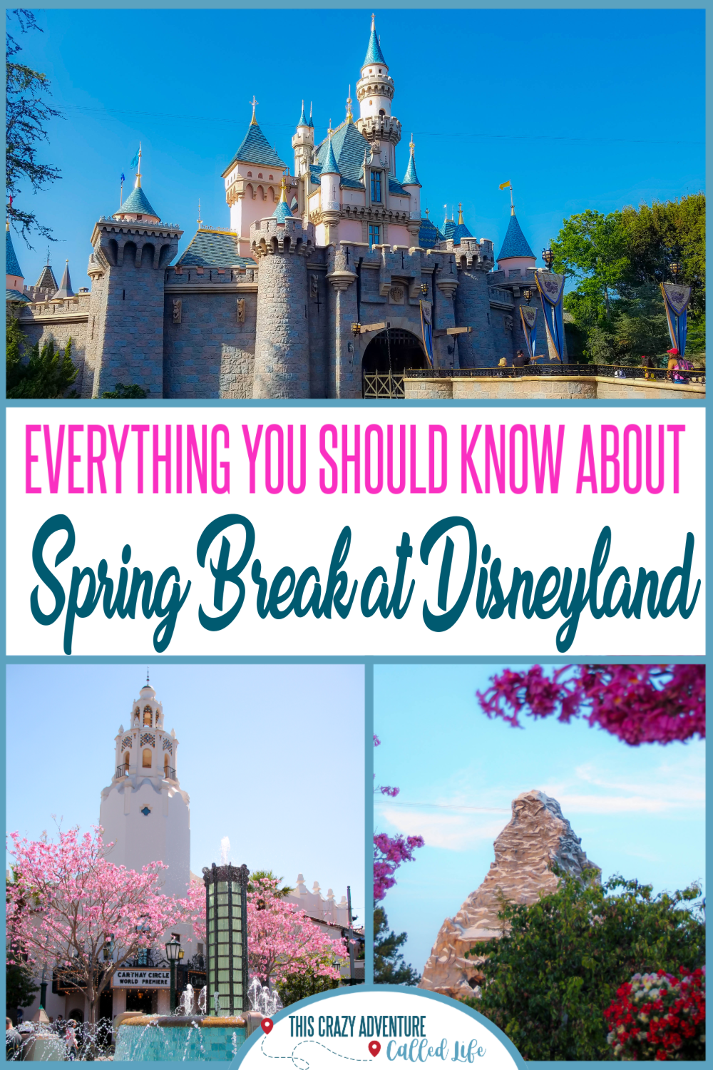 Debating if Spring Break at Disneyland is a good idea? Click through to get all the info about traveling to Disneyland with insider tips on spring break, including going with kids or for food and wine festival. Plus budget friendly tips for buying spring tickets and more. #DisneylandwithKids #Disneyland #ThisCrazyAdventureCalledLife #TravelwithKids