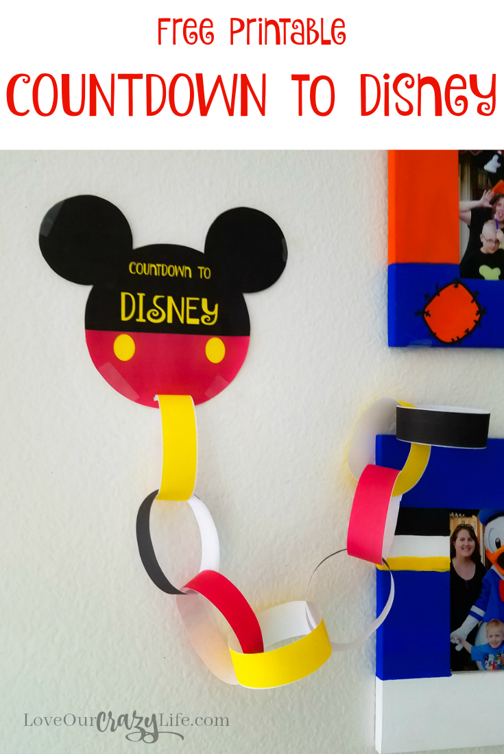 Free Printable Countdown To Disney | This Crazy Adventure ...