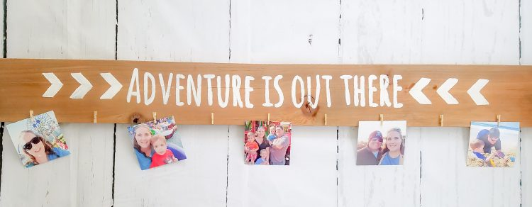 Easy DIY hand painted wood photo display
