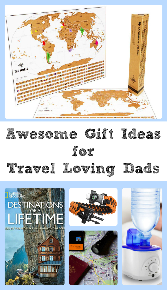 Gifts for travel lovers. Great for Father's Day, Christmas, Birthdays and more.  Travel | Gifts | Gift Guide | Vacation | Family Travel | Travel Gear | Hiking and Camping Gear |