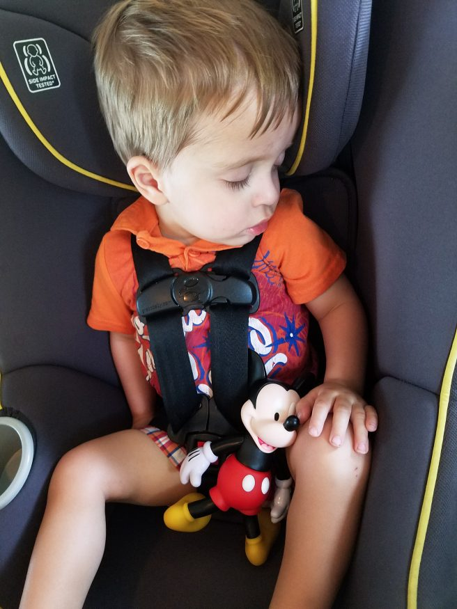 Road Trips with Toddlers tip: drive while sleeping