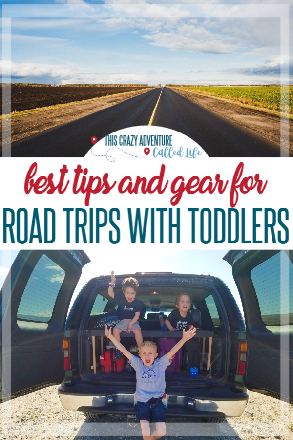 Heading on a road trip with toddlers or preschoolers? This family regularly takes long road trips and has amazing tips and hacks for travel with kids, especiallyfor road trip destinations. Ideas for kids snacks and packing activities for in the car plus some amazing tips to help stop the whining. Essentials for gear to enjoy the trip as well. Great vacation planning tool. #RoadTrips #TravelwithKids #ThisCrazyAdventureCalledLife