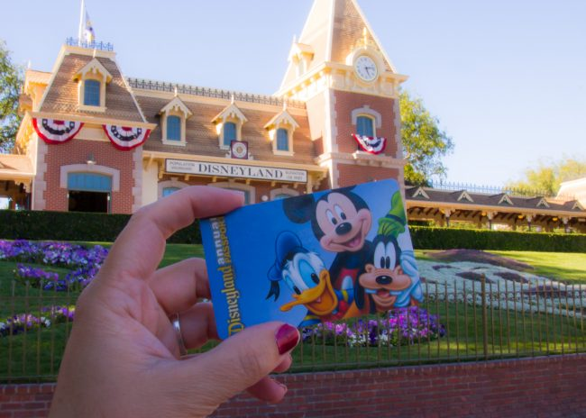 When you buy Disneyland tickets, they are unique to just you complete with photograph so never buy from someone who isn't a reputable ticket distributor.