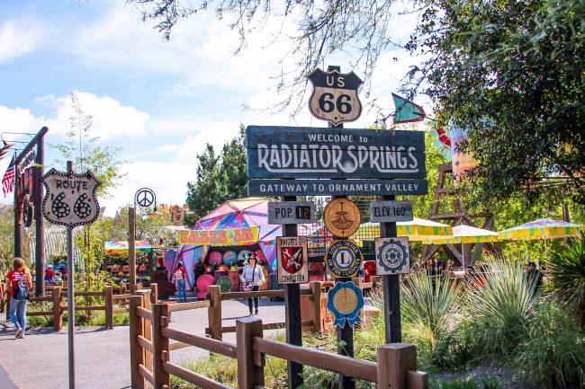 Enjoy fun in Radiator Springs when you buy Disneyland Tickets that include a Park Hopper pass.