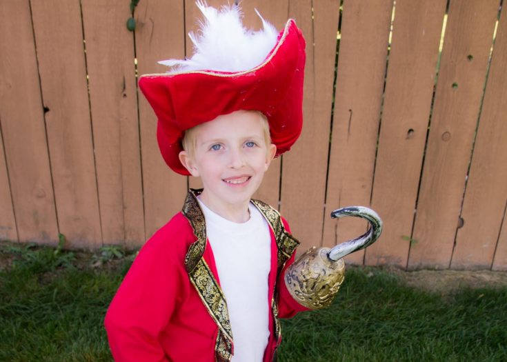 DIY Captain Hook Costume (No Sewing Required)