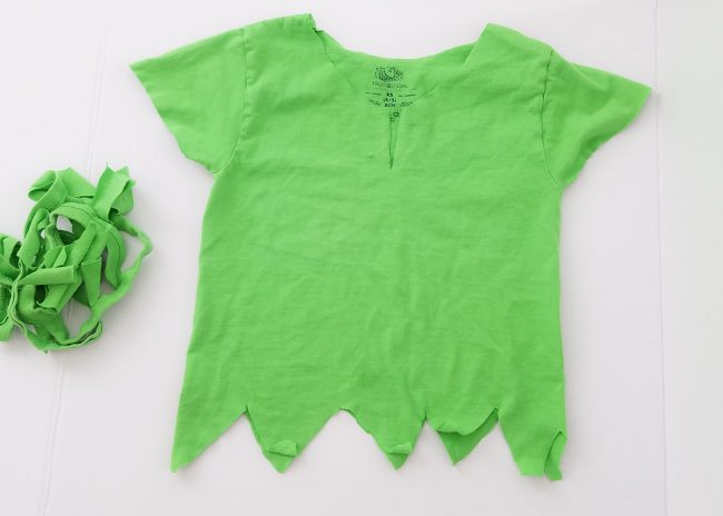 Easy Peter Pan Costume From TeeShirt