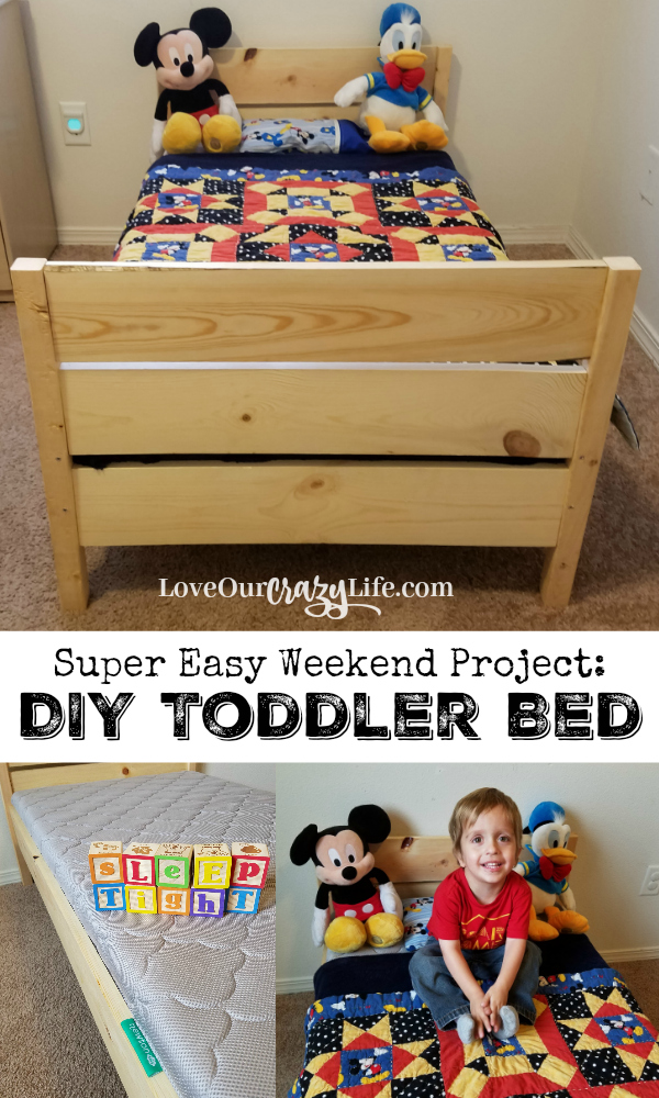 Make A Toddler Bed For Under $50 In One Day - LoveOurCrazyLife