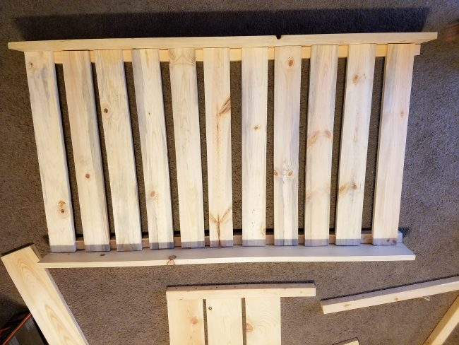 Wood slats for a DIY toddler bed