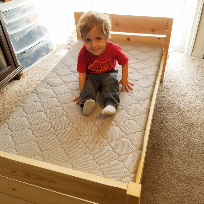DIY toddler bed is a huge hit