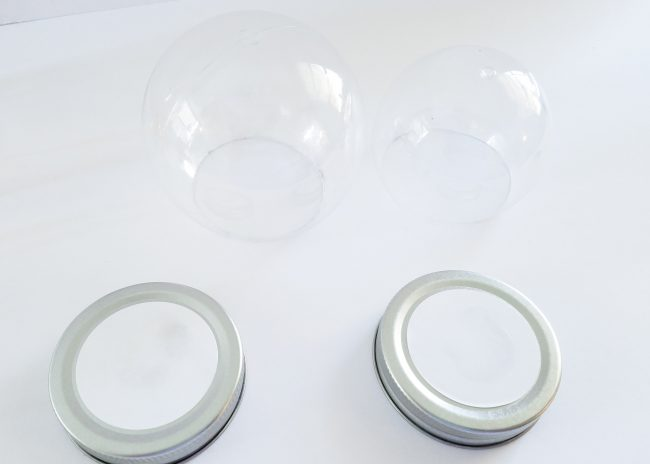 DIY snow globe treat jars