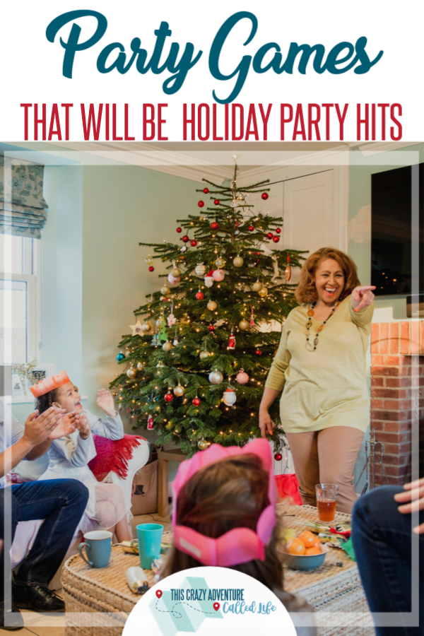 These Christmas Party Games are sure to be a giant hit. Great for family, friends, and work alike. Kid friendly with free printables. Even has a link to a unique Gift Exchange game. Love these ones!!! #Christmas #Party #Games #ThisCrazyAdventureCalledLife #PartyGames