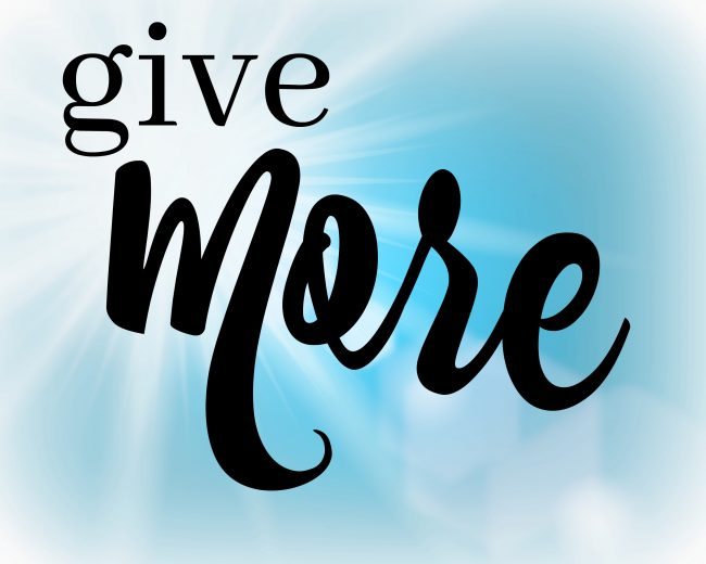 one word for 2018 give more