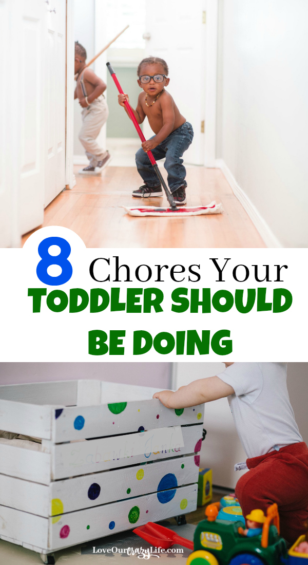 Chores for toddlers. Great tips for parents on getting kids involved in housework. #Parenting #Chores #home #kids