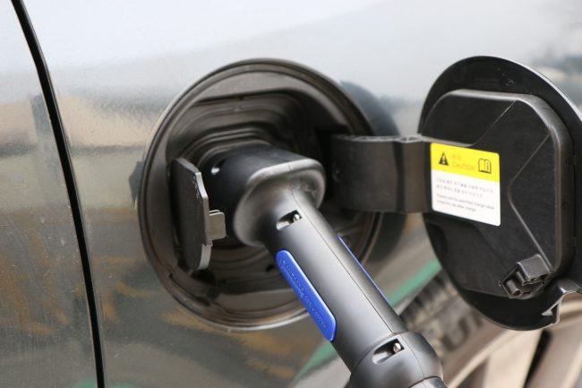 Electric Vehicle Charging at Disneyland parking