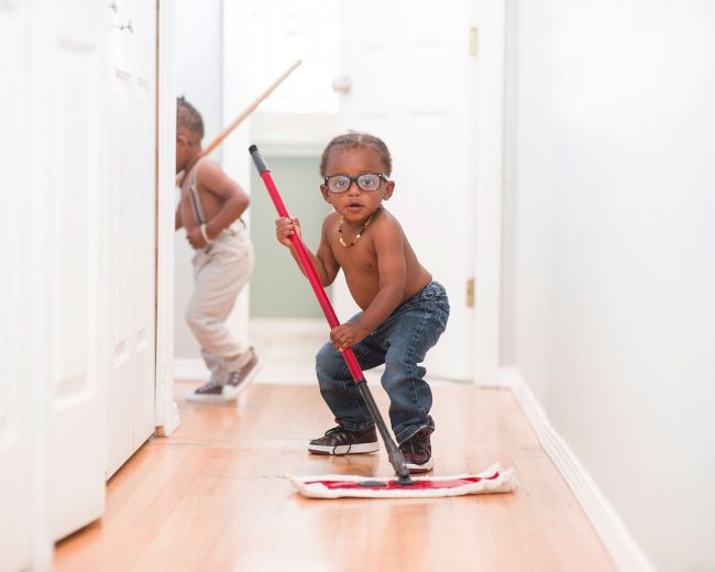 chores toddlers can do include sweeping