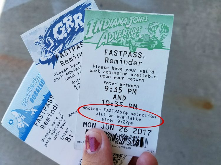 Disneyland Fastpass Return Time