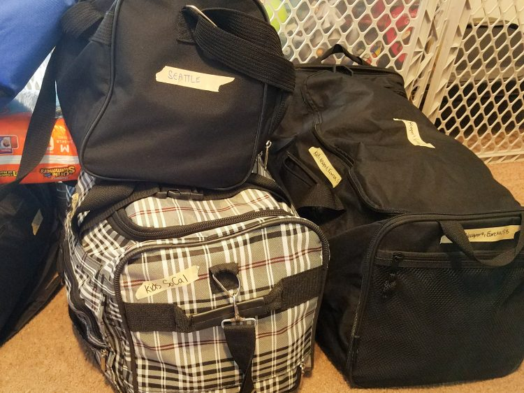 Packing for road trip