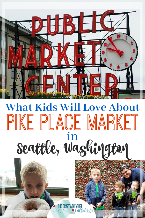 Visiting Seattle, Washington? Be sure to check out Pike Place Market. Perfect stop for your family vacation. Kids will love these activities. Plus great tips about visiting the market. #Seattle #Travel #FamilyTravel