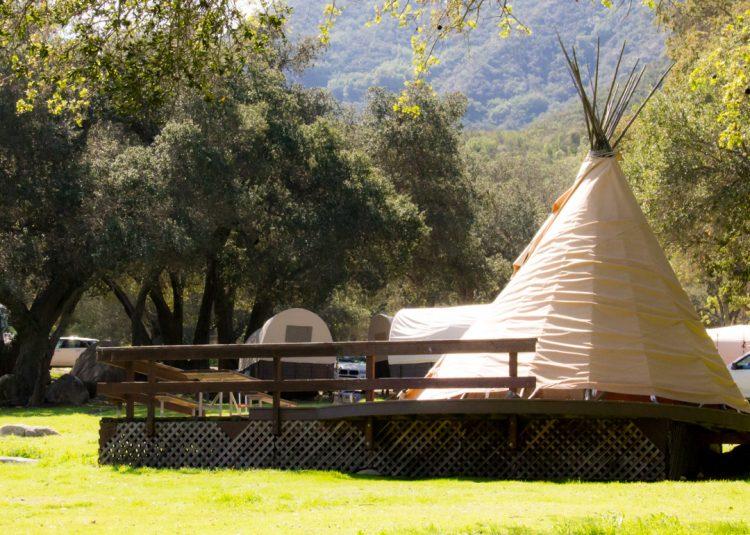 Rancho Oso in Santa Barbara, CA teepee
