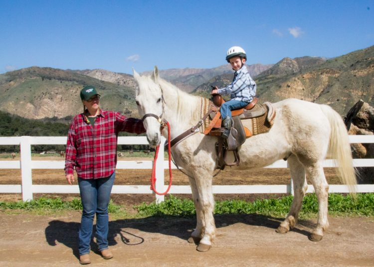 Hand-led horse rides at Rancho Oso near Santa Barbara, CA
