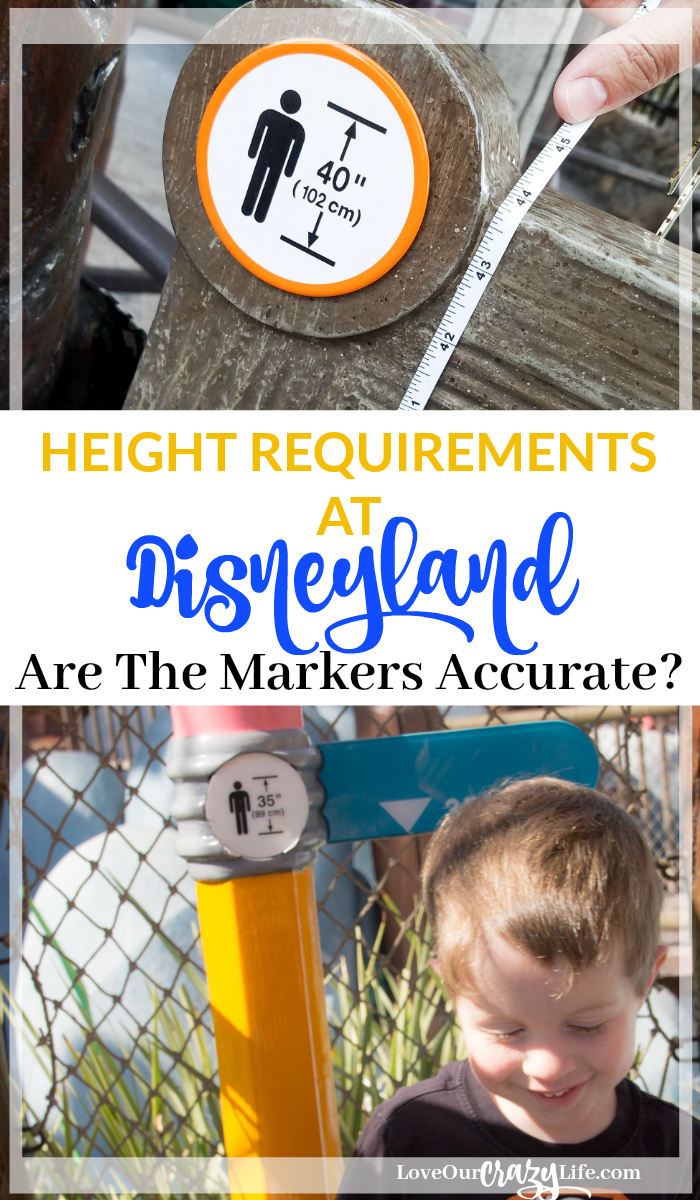 Heading to Disneyland with kids? You probably want to know if your child will be tall enough for rides with height requirement. Answering the question- are the Disney height requirement markers accurate?