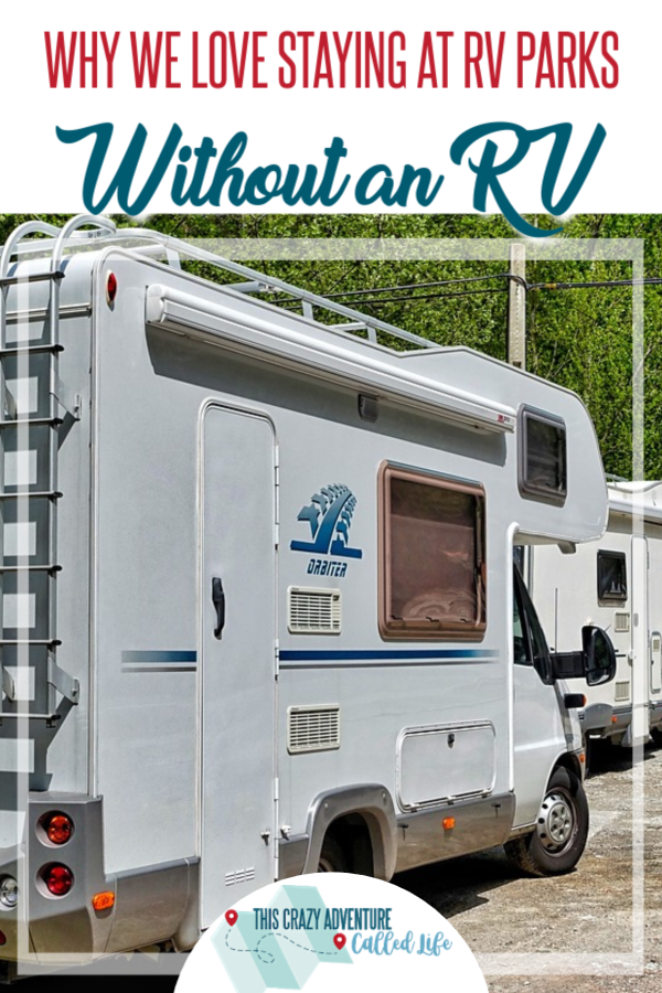 Looking for lodging for your next road trip? Why not skip the hotel and stay in an RV park. RV parks are great, even if you don't have a mobile home. Camping and glamping aren't the only options. Learn more about it here. #ThisCrazyAdventureCalledLife #camping #glamping #travel #roadtrip #vacation #rentals #tips #lodging
