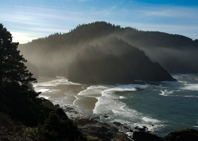 Heceta Head beach south of Newport, Oregon