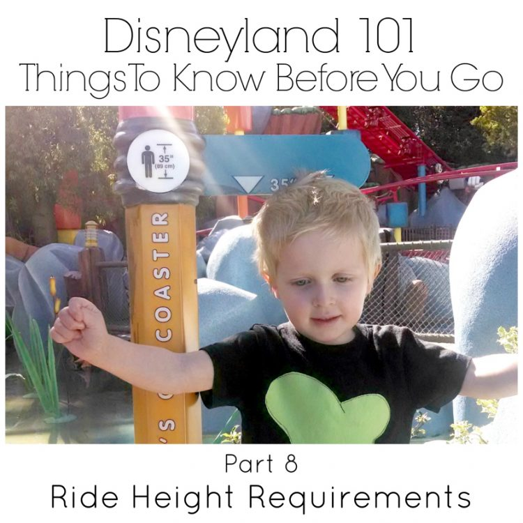 Disneyland Ride Height Requirements