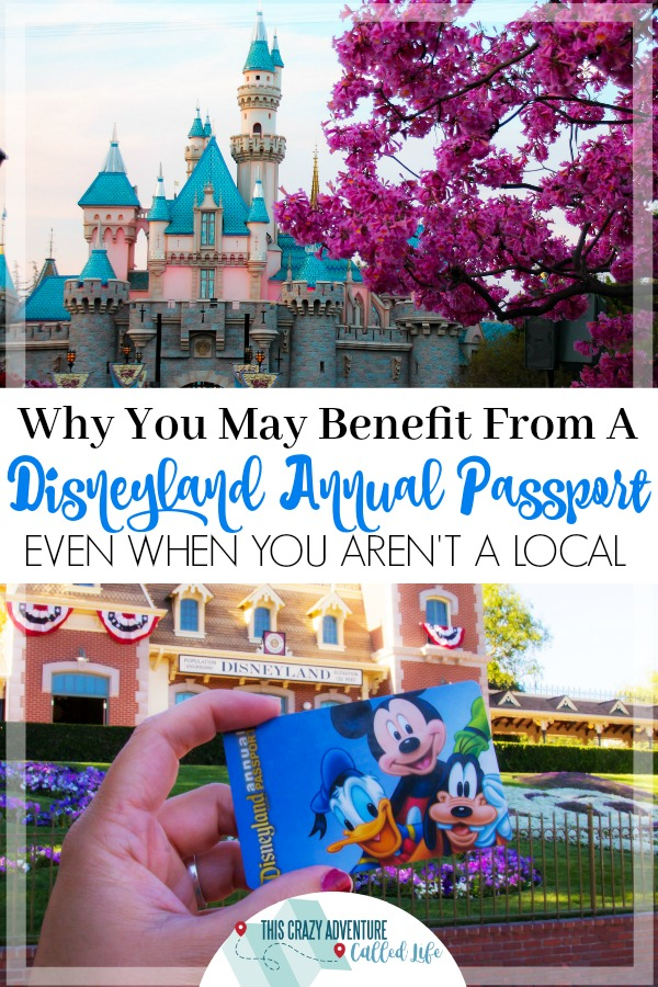 Planning a trip to Disneyland? An annual passport might be a money saver. Check out why you may want to upgrade to a Disneyland season pass, plus info on all the different pass options. #Disneyland #Disney #California #vacation #ThisCrazyAdventureCalledLife