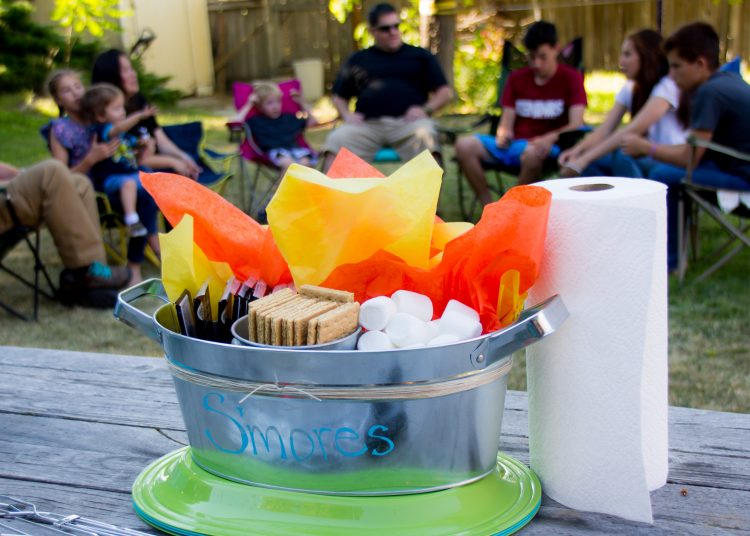 smores kit for family reunion or camp out