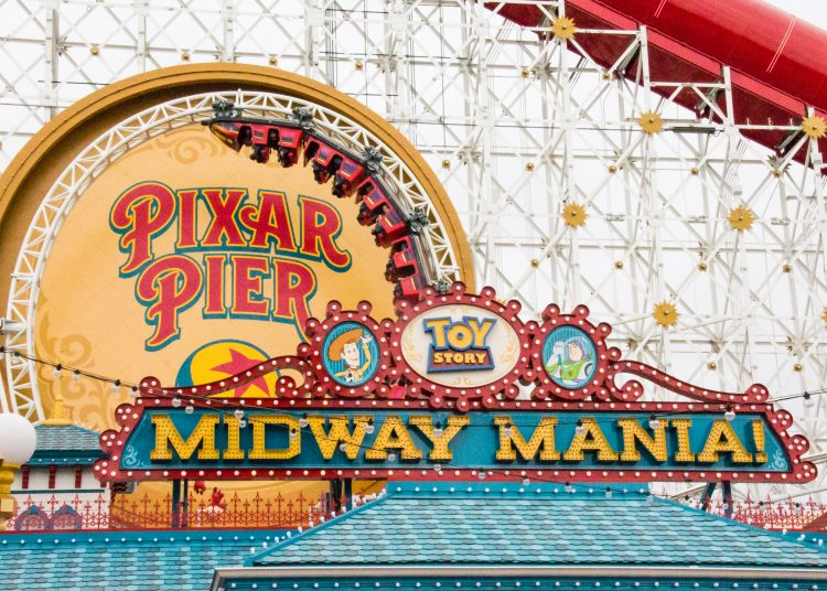 Toy Story Midway Mania on Pixar Pier