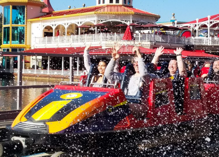 Incredicoaster at Pixar Pier Disneyland
