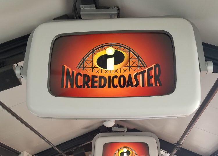 Incredicoaster queue at Pixar Pier