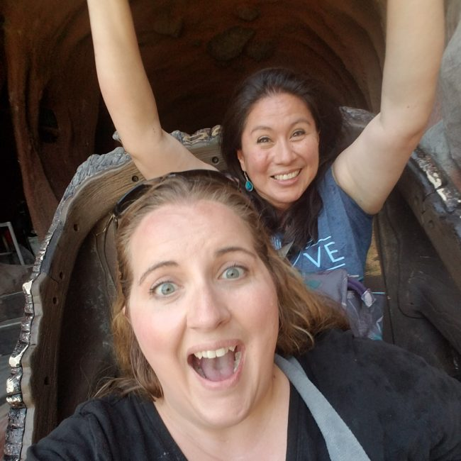 SPlash mountain selfie