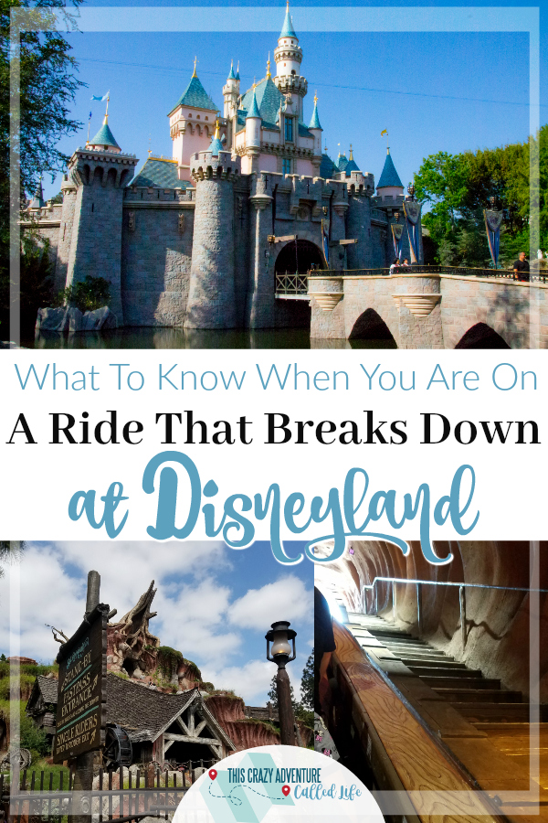 What to expect when a ride breaks down during your Disneyland vacation. Do you get a refund if a lot of rides break down? What do they do for you? How often do rides break down? Plus a funny story of getting walked off Splash Mountain. #Disneyland #themeparks #California #familyvacation #ThisCrazyAdventureCalledLife