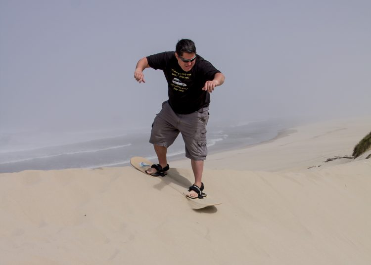 Sandboarding is one of the top family activities in Florence, Oregon