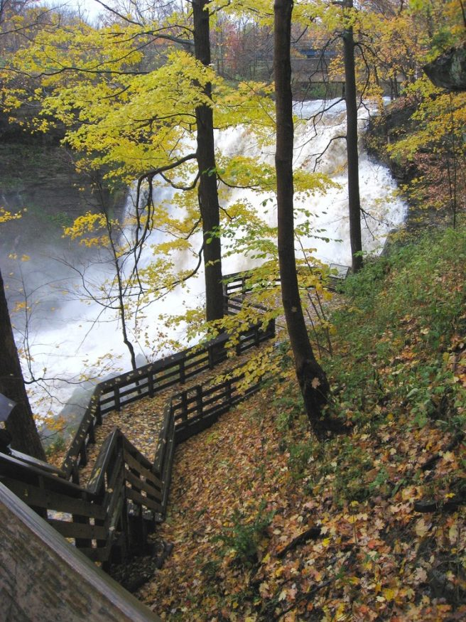 Brandywin Falls in Cuyhahoga National Park