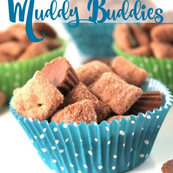 Reese's Peanut Butter Cup Muddy Buddies are delicious. Great snack that the kids can help make. This recipe is also great for parties.