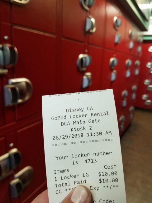 Lockers at Disney California Adventure in Disneyland Resort