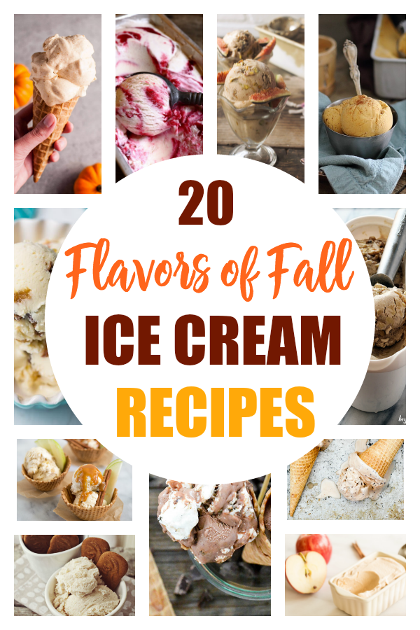These ice cream recipes just scream fall! Check out these 20 flavorful home-made ice cream recipes that will have you ready for crisp autumn nights. #icecream #recipes #fallrecipes #desserts #ThisCrazyAdventureCalledLife
