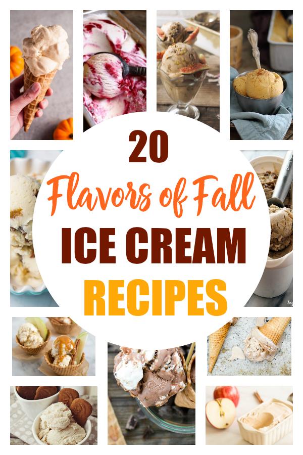 These ice cream recipes just scream fall! Check out these 20 flavorful home-made ice cream recipes that will have you ready for crisp autumn nights. #icecream #recipes #fallrecipes #desserts #ThisCrazyAdventureCalledLife