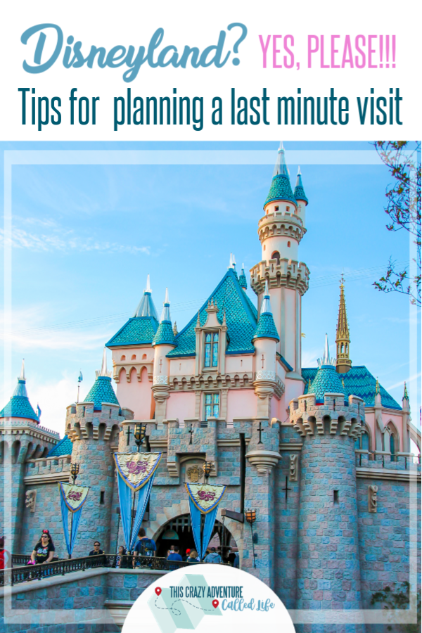 Disneyland? Yes, Please!!! Planning a last minute trip to does not mean you can't go on a budget, enjoy dining options, or have fun. Check out these insider tips for planning a last minute vacation alone or with toddler, preschoolers, teens and more. Enjoy a vacation to the Disney park in Southern California. #Disneyland #TravelwithKids #DisneylandwithKids #ThisCrazyAdventureCalledLife #VisitCalifornia