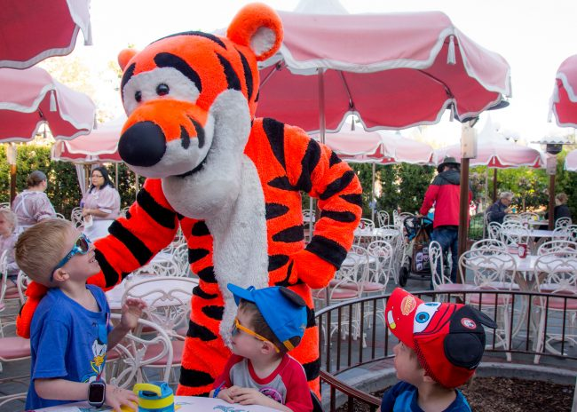 Dining at Disneyland during a last minute trip