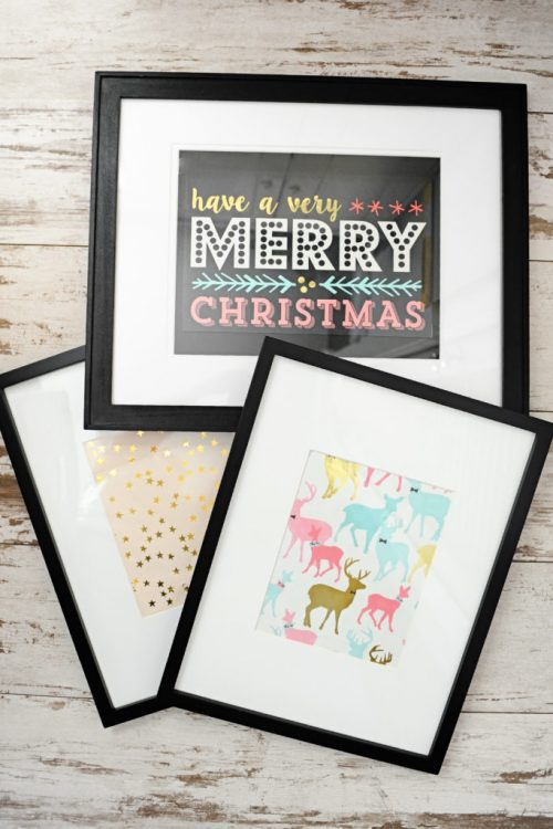 Make Art From Gift Bags | 26 Inspiring and Easy Christmas DIYs | This Crazy Adventure Called Life