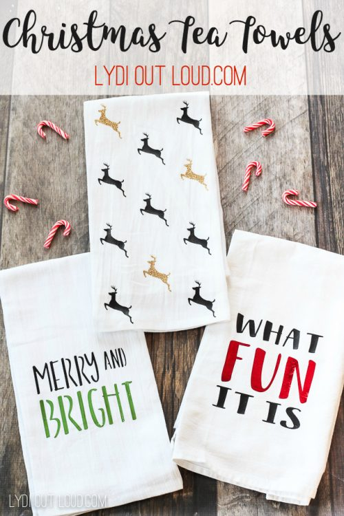 Christmas Tea Towels | 26 Inspiring and Easy Christmas DIYs | This Crazy Adventure Called Life