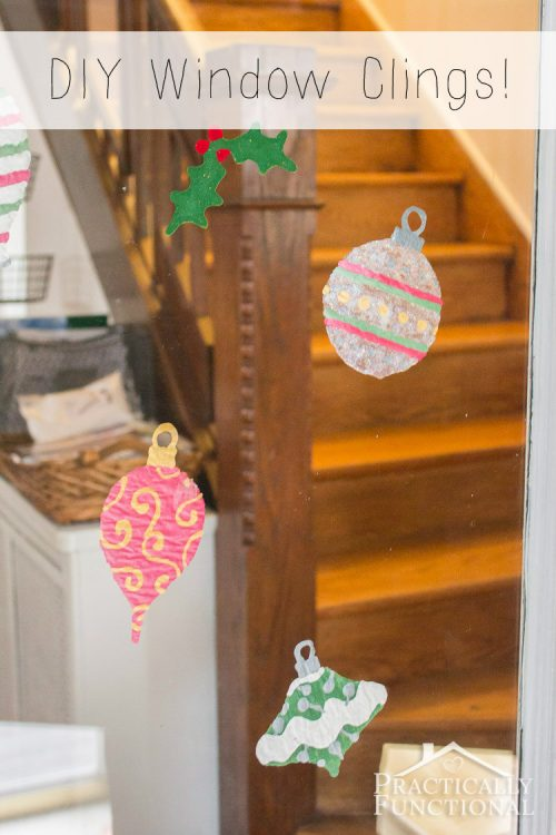 DIY Christmas Window Clings | 26 Inspiring and Easy Christmas DIYs | This Crazy Adventure Called Life