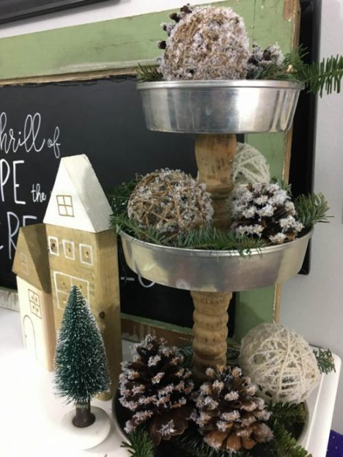 DIY Snow Covered Christmas Decor | 26 Inspiring and Easy Christmas DIYs | This Crazy Adventure Called Life