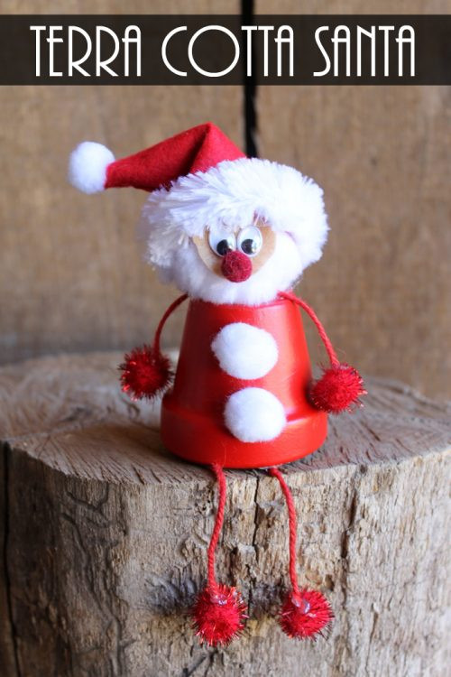 Terra Cotta Santa | 26 Inspiring and Easy Christmas DIYs | This Crazy Adventure Called Life